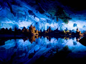 Crystal Palace of Reed Flute Cave en Guilin (China)
